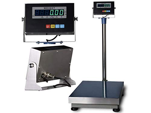 SL-BENCH-TCS BENCH SCALE WITH STAINLESS STEEL INDICATOR & PLATTER ('12 x 16' (600 lb x .02 lb))