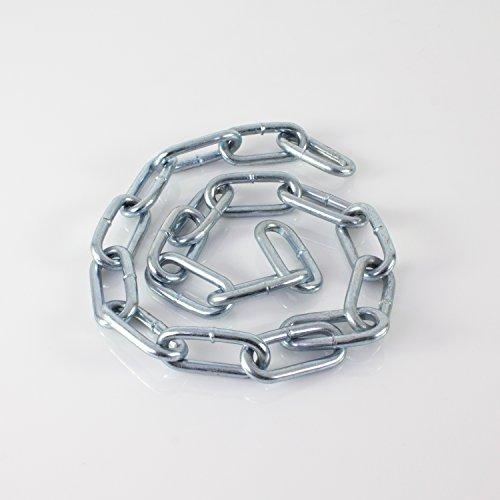 showking Set aus 2 x Ketten Silverstar für Discokugel bis Ø 100 cm, 1 m- Gliederkette zur Aufhängung von Spiegel Kugeln