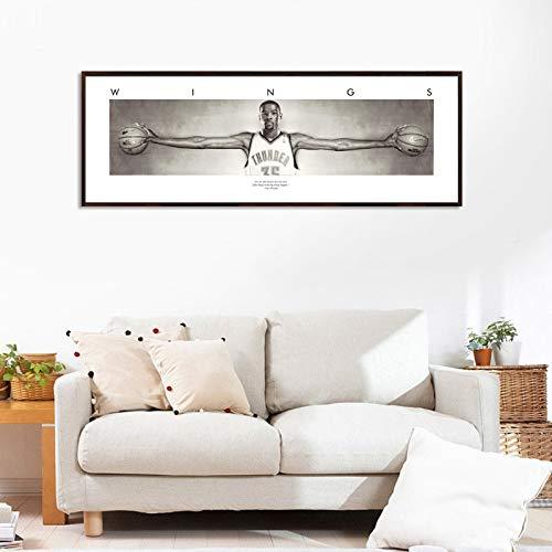 UIOLK Impresiones en Lienzo, Carteles clásicos de la Estrella del Baloncesto Negro Mamba Bryant y óleo sobre Lienzo, Sala de imágenes escandinava, Regalo del día de San Valentín