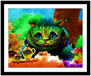 Alice in Wonderland Cheshire Cat Fine Art Print Wall Decor Poster Picture