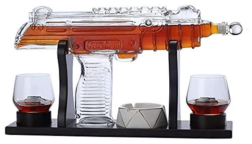 XXJIC Conjunto de Decantador de Armas, para Whisky, Vodka, Vino, Puerto, Bourbon, escocés, Libre de Plomo, papá