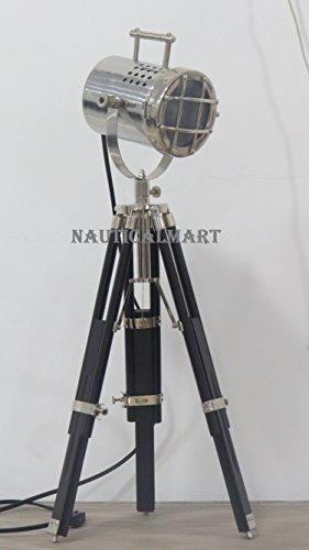 Decorative Chrome Finish Designer Tripod Table Lamp by Nauticalmart
