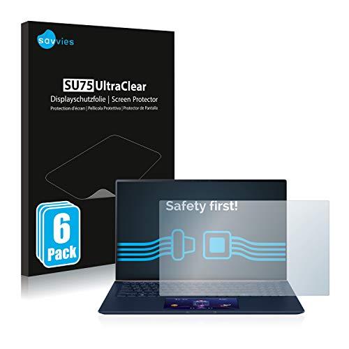 savvies 6-Pezzi Pellicola Protettiva Compatibile con ASUS ZenBook 15 UX534FT (Touch Trackpad) Protezione Schermo Trasparente