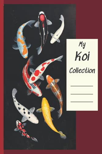 My Koi Collection: Color in your koi's individual markings using the koi templates provided. Log names, variety, size, age. Make notes about each koi: habits, illness, injuries.