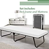 Spinal Solution Fully Assembled Portable Folding Cot Bed With Mattress, Twin,...