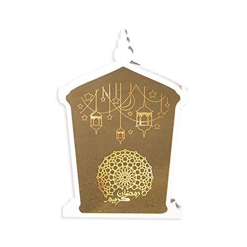 Ramadan LED Dekorationen Eid Mubarak Holzverzierung Nachtlicht, Acryl Zeichen Ornament Für Muslimische Tischdekoration