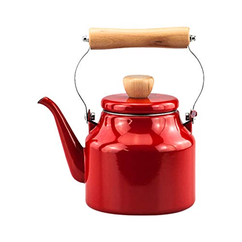 JXLBB Crimson 1,2 L bouilloire émaillée bouilloire Kung Fu théière fleur théière cuisinière à induction universelle