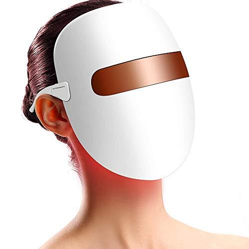 HHXX LED Licht Therapie Gezichtsmasker, 3 Kleur Gezichtsmasker Photon Therapie Lichte Huidverjonging Rimpel Verwijdering Gezichtsmasker Apparaat