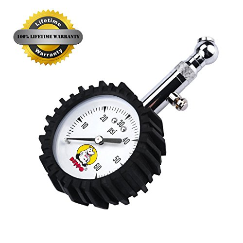Hippo High Accuracy Rubber Protection Portable Tire Pressure Gauge, 60 Psi Dual Layer Protection, Sa - http://coolthings.us