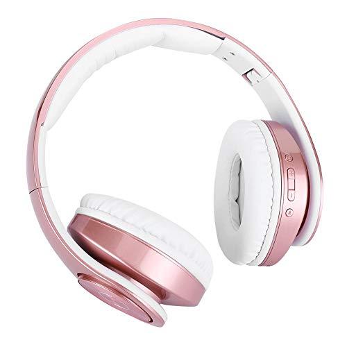 Archuu Faltbares kabelloses Headset, tragbarer 450-mAh-Stereo-Bluetooth-Kopfhörer Drahtloser/kabelgebundener Over-Ear-Kopfhörer mit Audiokabel zum Laufen, Training
