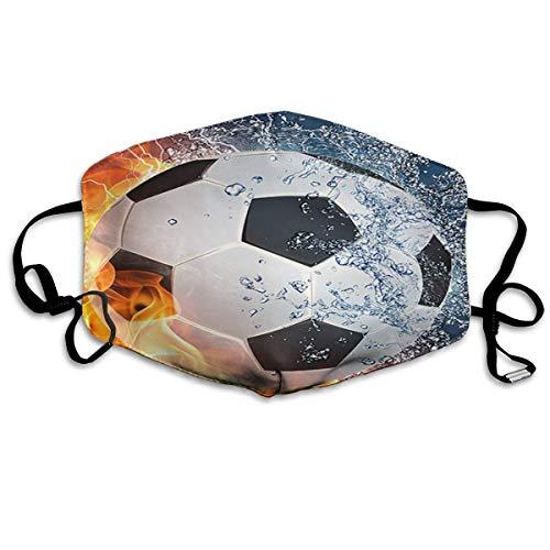 Mond Cover Voetbal In Water En In Vuur En Ijs Anti Stofzuiger Oor Loops Herbruikbare Wasbare Gezichtsbescherming Mond Sjaal