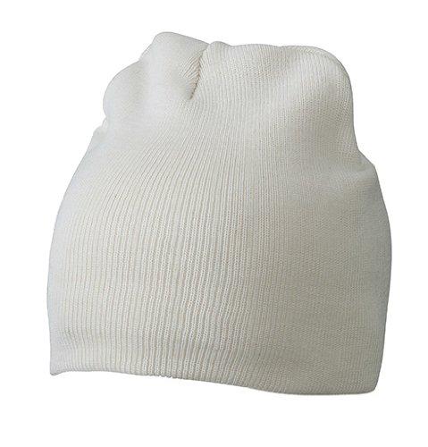 MYRTLE BEACH Bonnet en Coton Unisexe Blanc Blanc Taille Unique