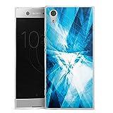 DeinDesign Silikon Hülle kompatibel mit Sony Xperia XA1 Case transparent Handyhülle Kristall Spiegel Linien