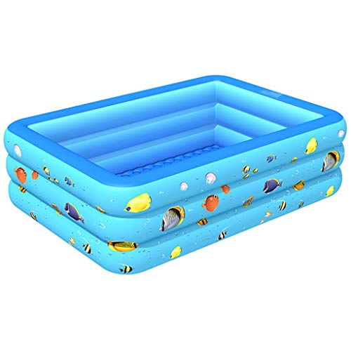WenFei shop Piscina, Piscina Inflable Hinchable Piscina Inflable Familiar, Piscina Infantil para Niños De Verano Parque Acuático Inflable para Niños Adultos Interior Al Aire Libre