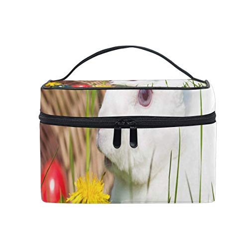 Trousse de maquillage Lapin dans le jardin Trousse de toilette Portable Grand Trousse de toilette pour femmes/filles Voyage