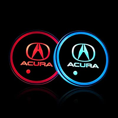 Wall Stickz Auto Sport 2PCS LED Cup Holder Mat Pad Coaster with USB Rechargeable Interior Decoration Light