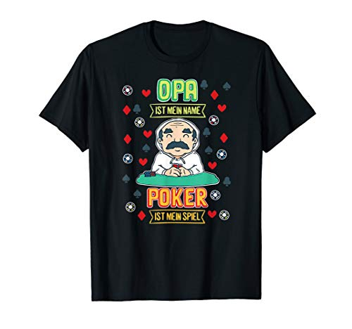 Herren OPA IST MEIN NAME POKER IST MEIN SPIEL | CASINO JACKPOT T-Shirt