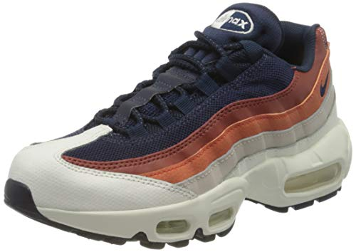 Nike Men's Air Max 95 Essential Trainers, Sail Obsidian Desert Sand Vintage Coral, 5.5 UK