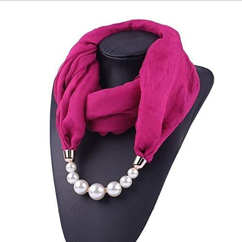 lejia Fantasía del Grano Pendiente Anillo de Collar de la Bufanda de Gasa de Las Mujeres Hijabs de la Bufanda con la Bufanda 1pc del Colgante del Fular de Femme Mujeres (Color : Style1944 5)