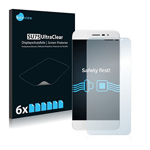 Savvies 6X Schutzfolie kompatibel mit Coolpad Torino S Bildschirmschutz-Folie Ultra-transparent
