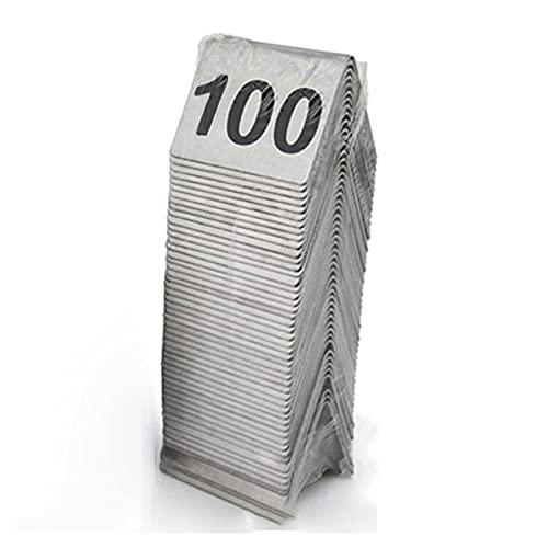 ZZYEUIO Tarjetas de número de Tabla de Carpa de Acero Inoxidable, 1-50/1-100 Números de Mesa de Asientos 1.9 × 1.6in / 5 × 4 cm, para Restaurante/Café/Bar/Boda Fiesta de cumpleaños Suministros