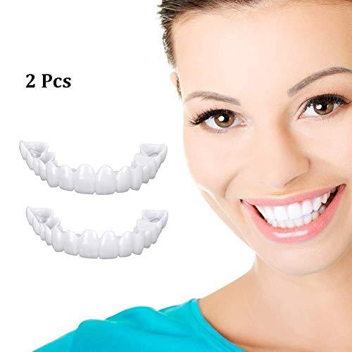SXFD Kosmetik Zähne Comfort fit Kosmetische für Extra Dünn Temporär Lächeln Komfort Fit Zahnersatz Provisorischer Veneers und Abnehmbaren Wiederverwendbaren