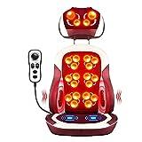 ZHANGTAOLF Back Massagegerät mit Wärme, Stuhlmassagekissen, Shiatsu-Rücken- und Nackenmassagegerät für den Stuhl, Massagekissen mit Wärme, höhenverstellbarer Massagesitz