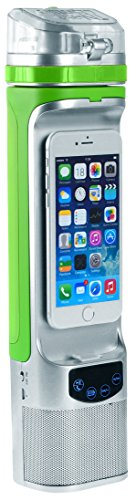 Next Bottle NBC1.2SGR NBC1.2 All-in-One Bluetooth Speaker, Powerbank, PhoneDock, Speakerphone, LCD, Freezable Gel Water Bottle, 10oz, Size, Green