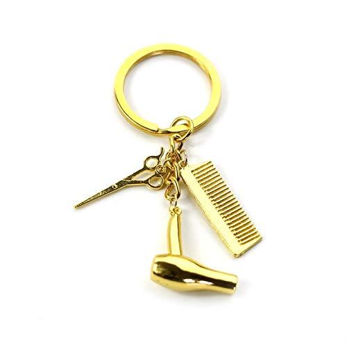 LUOSI Personalidad Secador De Pelo Combs Colgante Llavero Peluquería Herramientas Pelo Estilista Blow Salon Creative Regalo (Color : Kc0543)