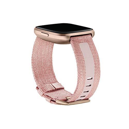 Gewebe-Zubehörarmband für Fitbit Versa 2, Rosa, Klein