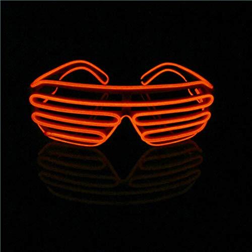 LERWAY Party Brillen Spielzeug EL Neon Draht Brille LED Partybrille Sonnenbrille Halloween Weihnachtsdekoration Neujahr Club Bar Disco Kostüm Geburtstag Dekoration (Rot)