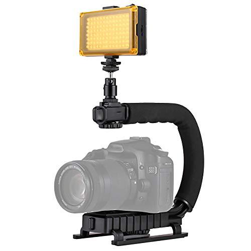 Stabilisator Dv draagbare houder in de vorm van U/C + LED-licht met kop Del statief voor alle camera's reflex en camcorders