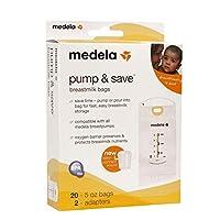 メデラポンプ&保存袋はミルク20個を滅菌