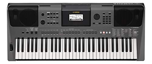 Yamaha Digital Keyboard PSR-I500 Tastiera Digitale Portatile, con 61 Tasti Dinamici e Sensibili al Tocco, con Stili e Strumenti di Accompagnamento Indiani, Nero
