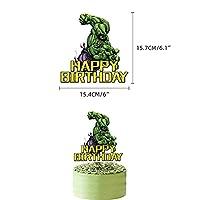 WZZA 1セットスーパーヒーローハルクテーマバルーン誕生日パーティーバルーンハルクパーティーの装飾ベビーシャワーボーイガールキッズお気に入りのおもちゃギフト 誕生日風船 (Color : 1pcs cake topper)