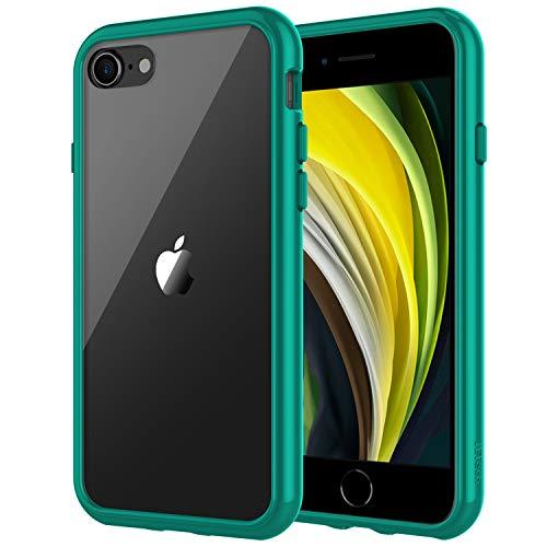 JETech Hülle Kompatibel Apple iPhone SE 2. Generation, iPhone 8 und iPhone 7, Schutzhülle mit Anti-kratzt Transparente und Rückseite, Grün