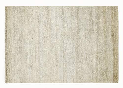 SANTA CANAPA echter original handgeknüpfter Nepal Teppich in natur-hemp, Größe: 70x140 cm