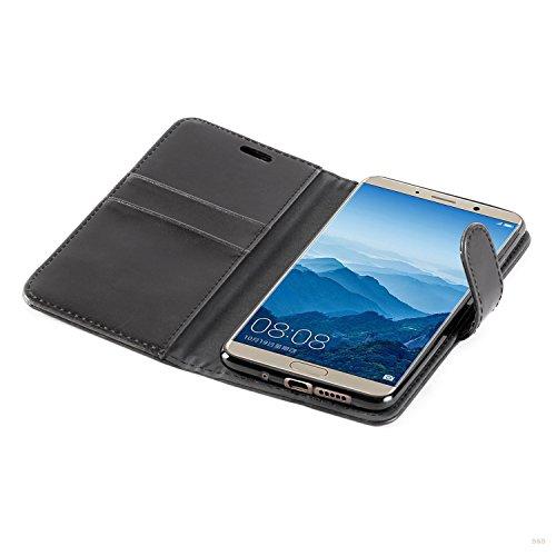 Mulbess Handyhülle für Huawei Mate 10 Hülle, Leder Flip Case Schutzhülle für Huawei Mate 10 Tasche, Schwarz - 6