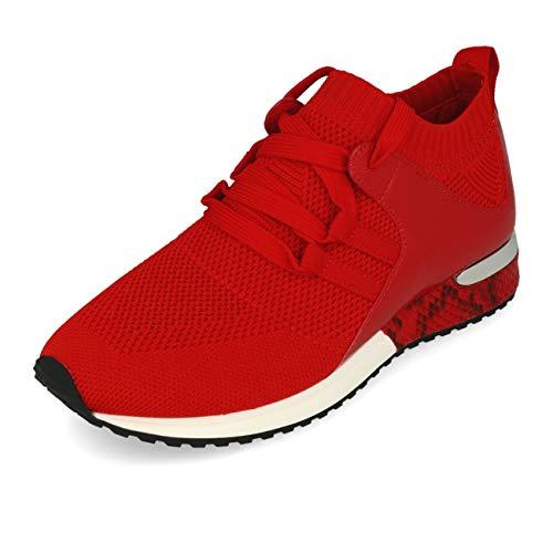 La Strada 1806936 Sneaker Rood Gebreid