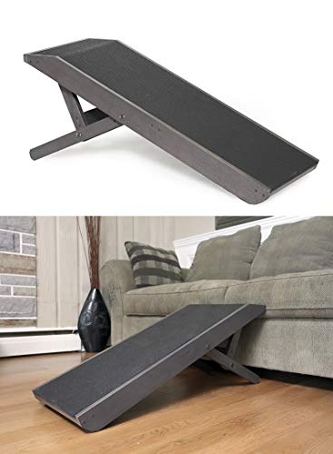 DoggoRamps - Couch Ramp for Dogs - Adjustable Height, Anti-Slip Grip Surface, for Small Dogs & Big...