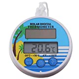 Solar Power Swimming Pool Thermometer Floating Max Min Water Temperature Thermometer for Hot