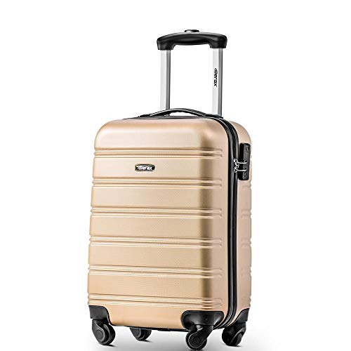 20' Suitcase Travel Luggage Locks Hard Shell Lightweight 4 Wheel Suitcas 36L-Golden