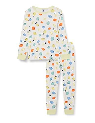 Petit Bateau A000A01 Pijama, Marshmallow/Multico, 12 años para Niñas