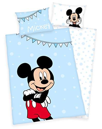 Klaus Herding GmbH Disney´s Mickey Mouse Bettwäsche 40x60cm 100x135cm 100% Baumwolle (Mickey Mouse)