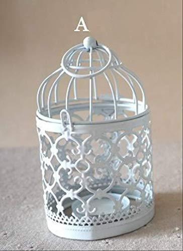 Preisvergleich Produktbild Wjfijz Vintage Metall Birdcage Kerzenhalter Tisch Schreibtisch Dekoration Ständer hängen Kerzenhalter für Home Coffee Shop Bar Dekoration A.