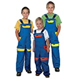 Kinder Arbeitshose Latzhose 100% Baumwolle Berufsbekleidung Kinder Anzug Overalls , Blau / Rot - 104 EU