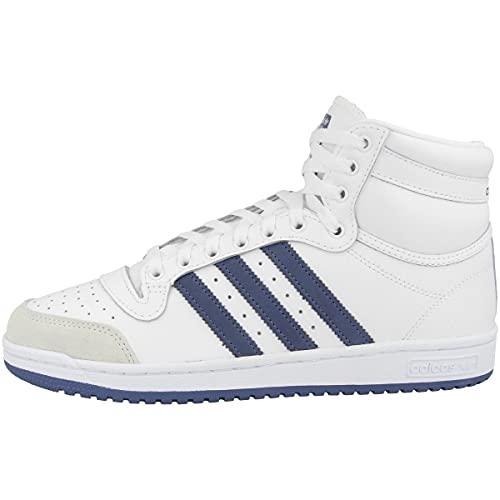 adidas Mid Top Ten - Zapatillas deportivas para hombre, color Blanco, talla 49 1/3 EU
