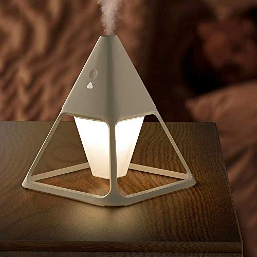 USB Volcano-shape Humidifier Household Spray Air Purifier Car Bedroom Office Essential Oil Aroma Diffuser with Night Light,Desk Lamp Humidifier 140ml,tricolor light,remote control