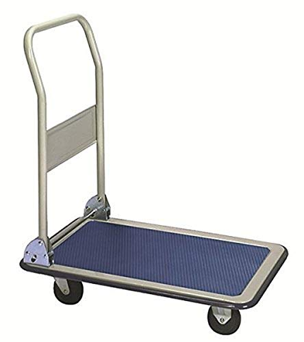 Wesco Industrial Products 272238 Economy Series Steel Platform Trucks with Folding Handle, Rubber Wheels, 275Pound Capacity, 19