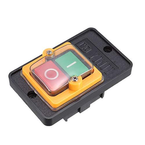 sourcingmap KAO-5M I/O Interruptor pulsador autoblocante Rojo Verde AC 220V/380V 10A